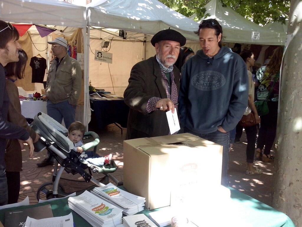 Martí Boada votant avui a Solsona